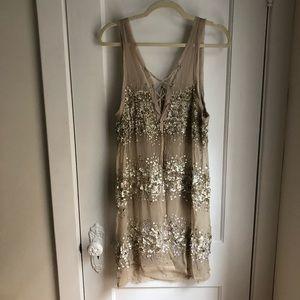 NWT All Saints handbeaded dress